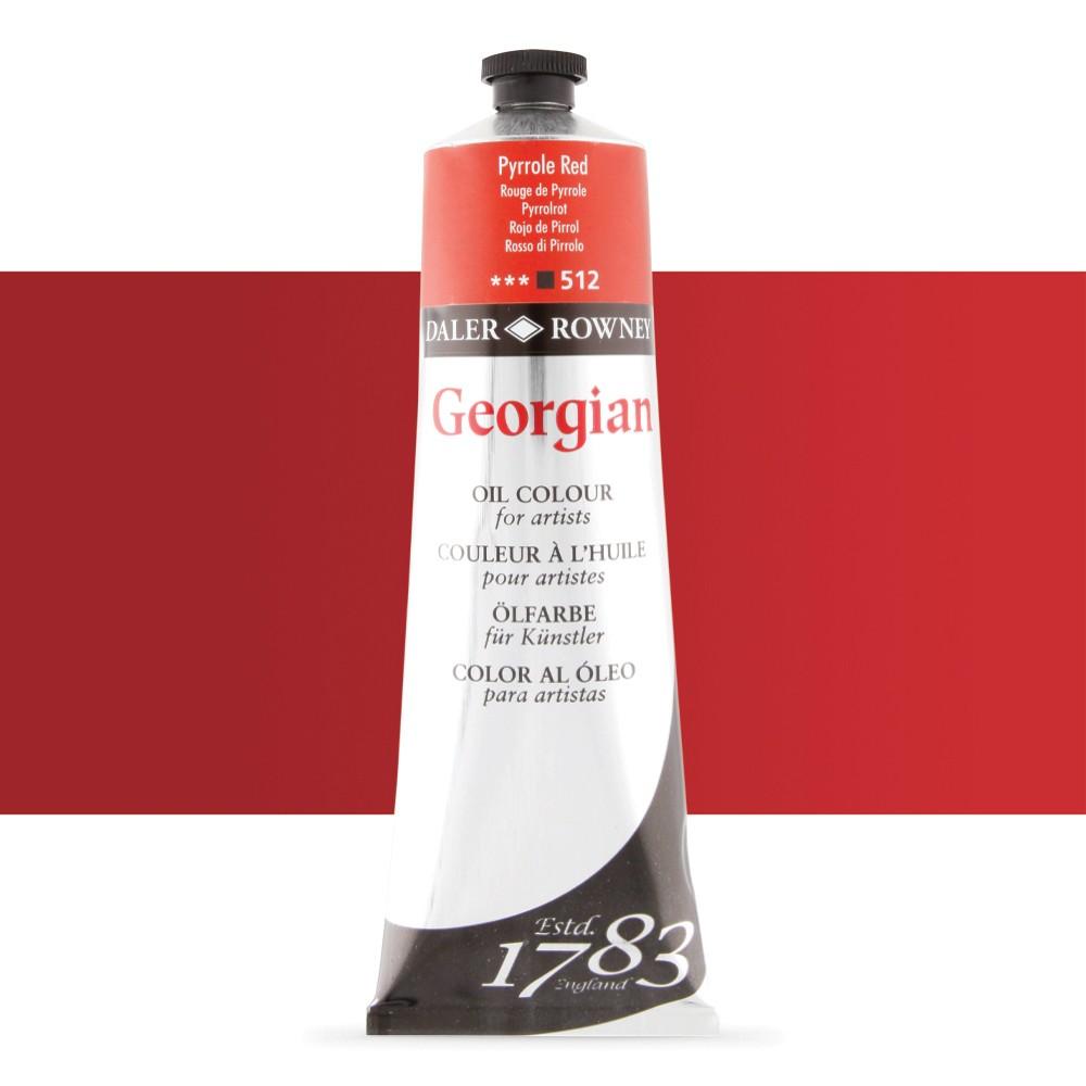 Daler Rowney : Georgian Oil Paint : 225ml : Pyrrole Red