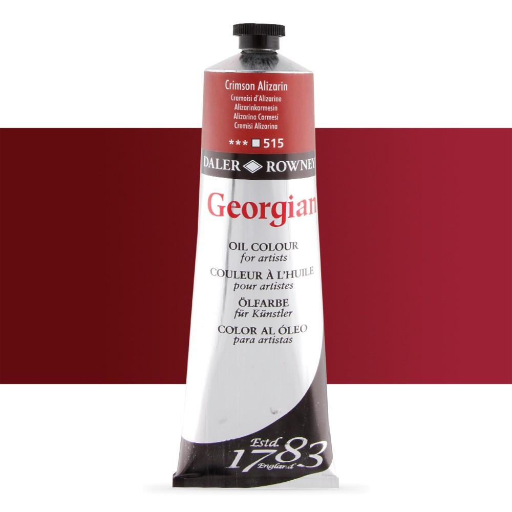 Daler Rowney : Georgian Oil Paint : 225ml : Alizarin Crimson
