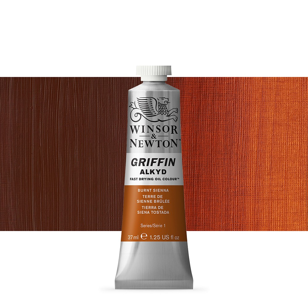 Winsor & Newton : Grffin : Alkyd Oil Paint : 37ml : Burnt Sienna