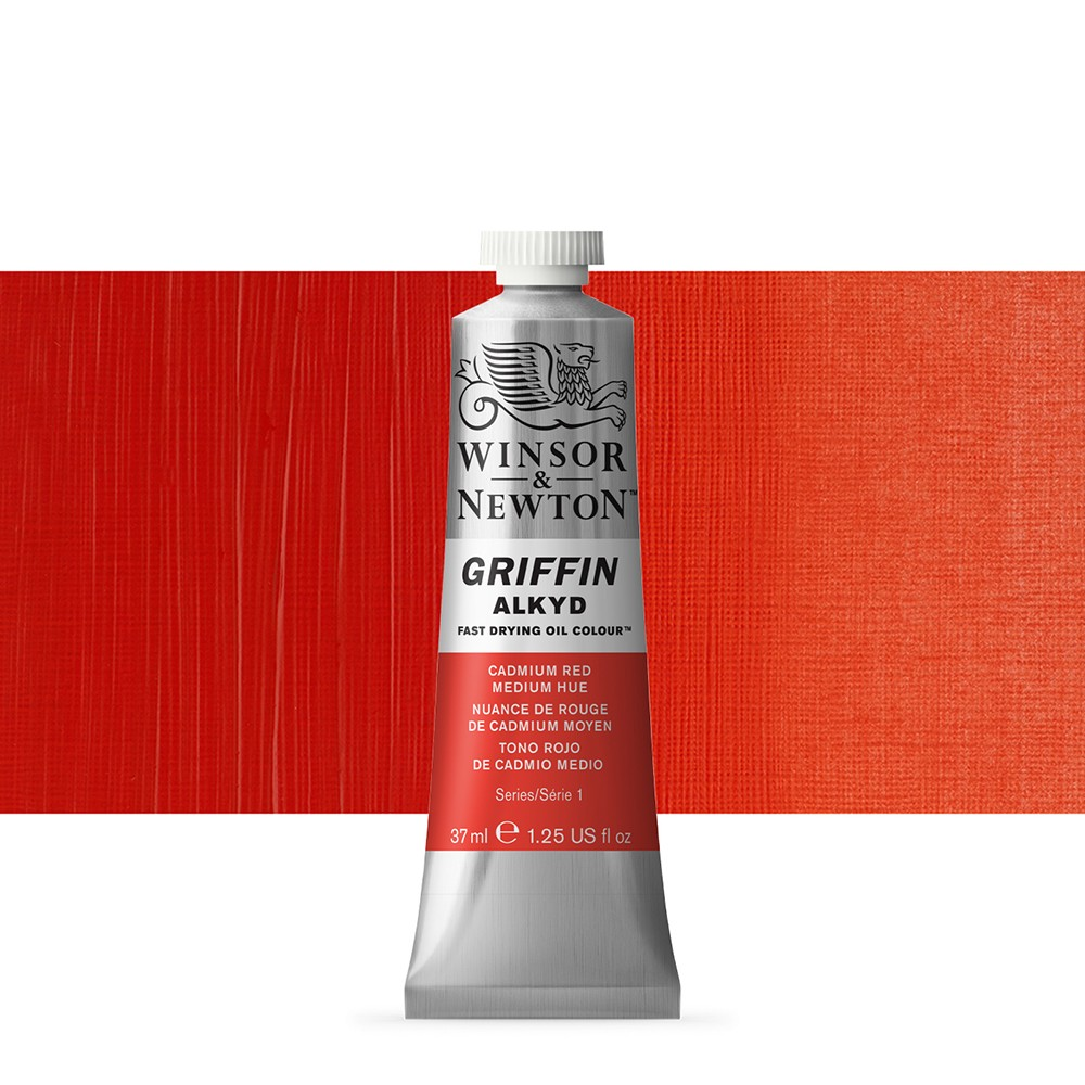 Griffin Alkyd Oil Paint : 37ml : Cadmium Red Med Hue