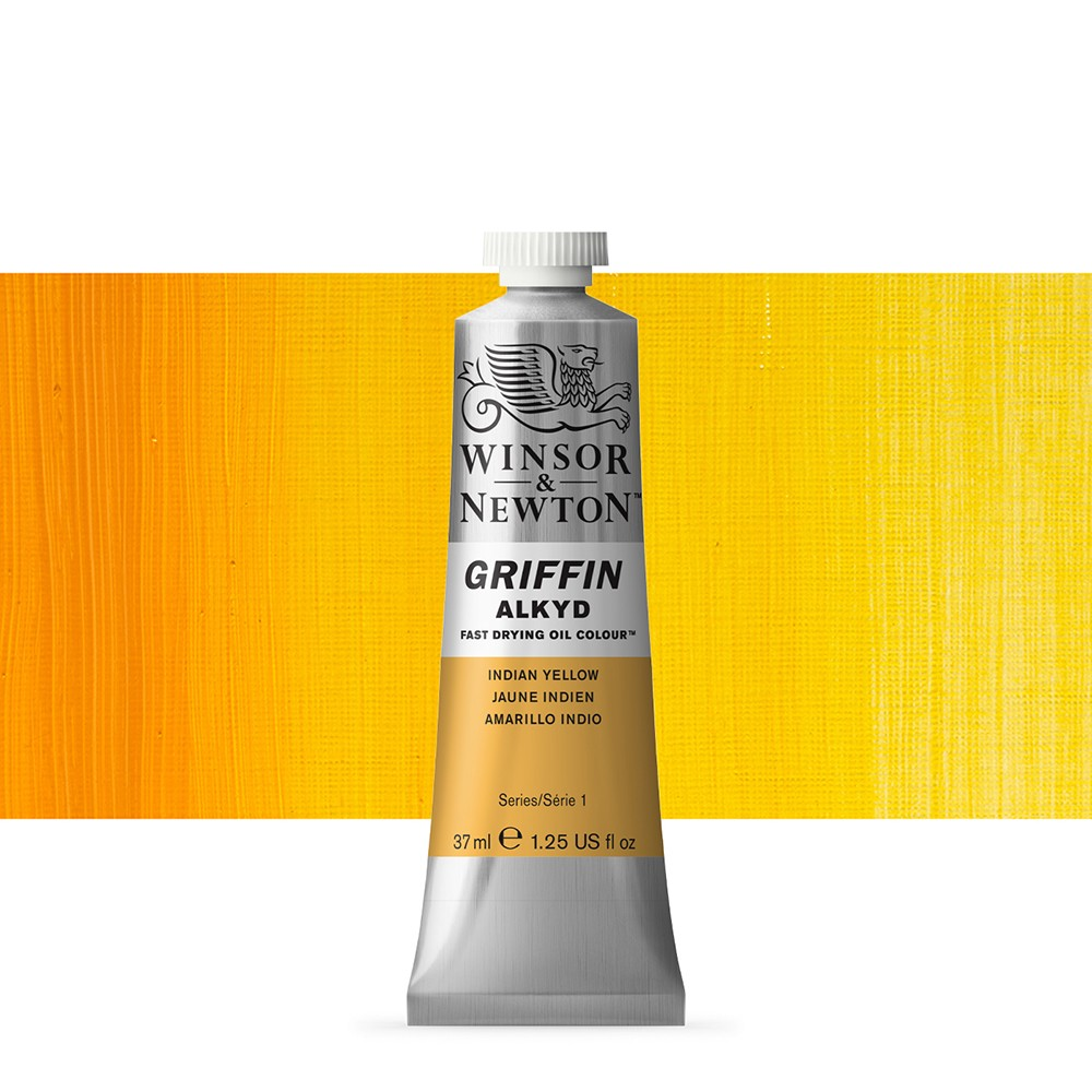 Griffin Alkyd Oil Paint : 37ml :Indian Yellow