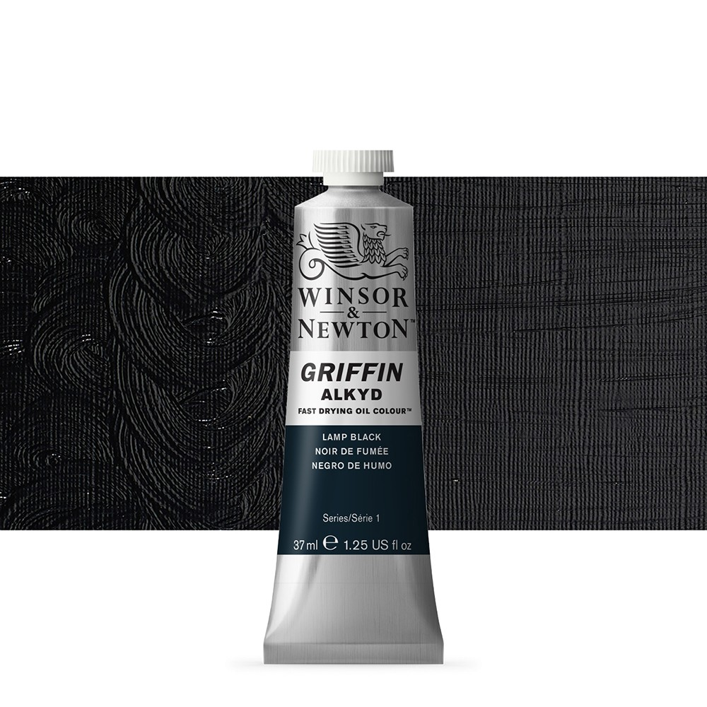 Griffin Alkyd Oil Paint : 37ml : Lamp Black
