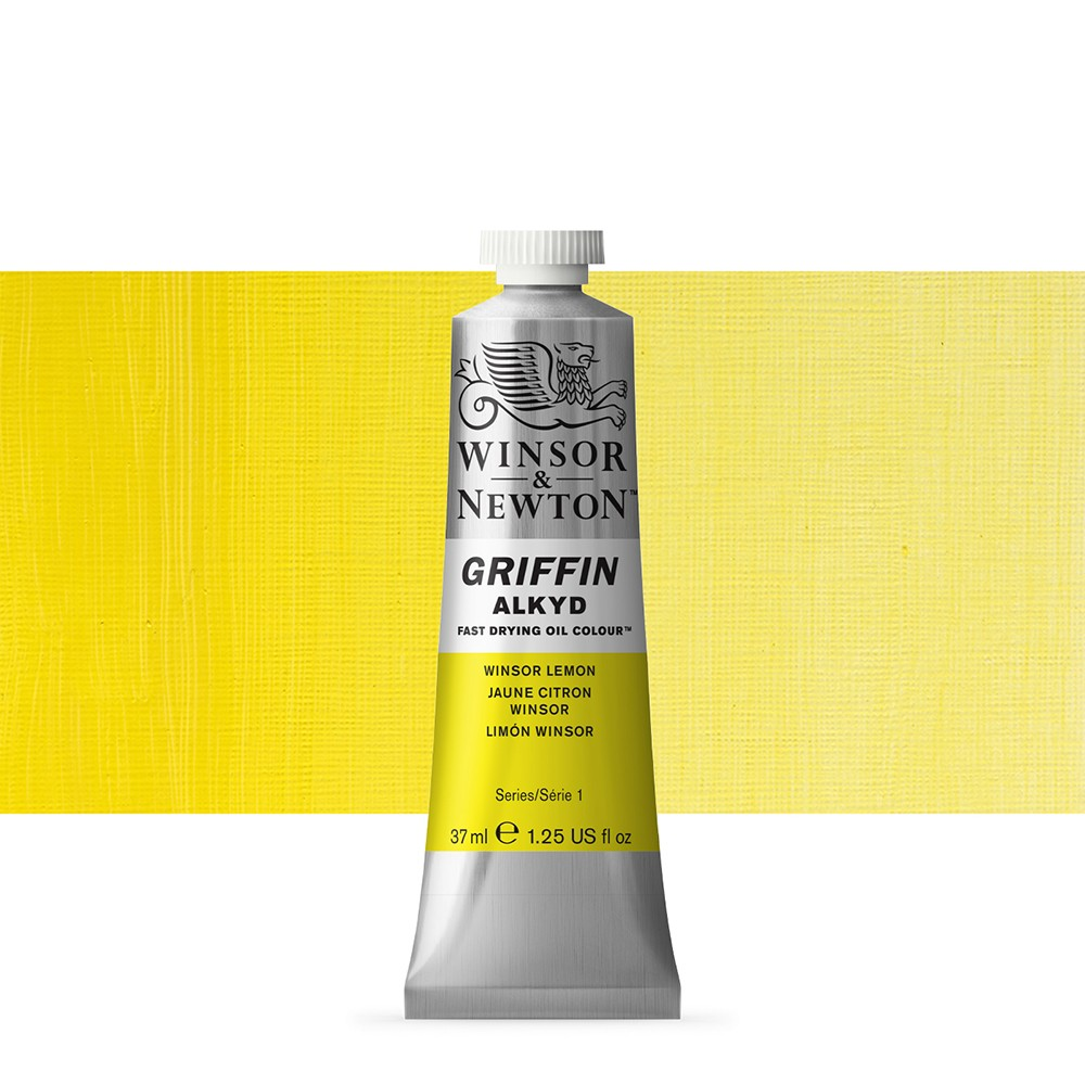 Griffin Alkyd Oil Paint : 37ml : Winsor Lemon