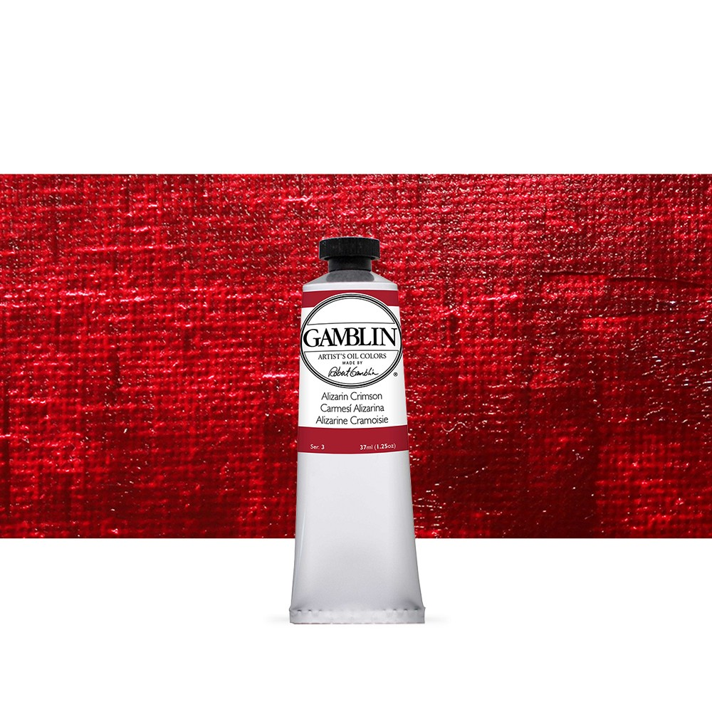 Gamblin : Artist Oil Paint : 37ml : Alizarin Crimson