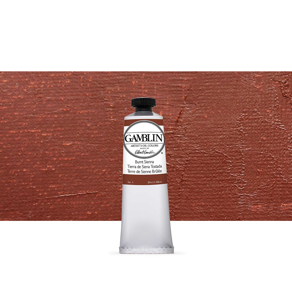 Gamblin : Artist Oil Paint : 37ml : Burnt Sienna