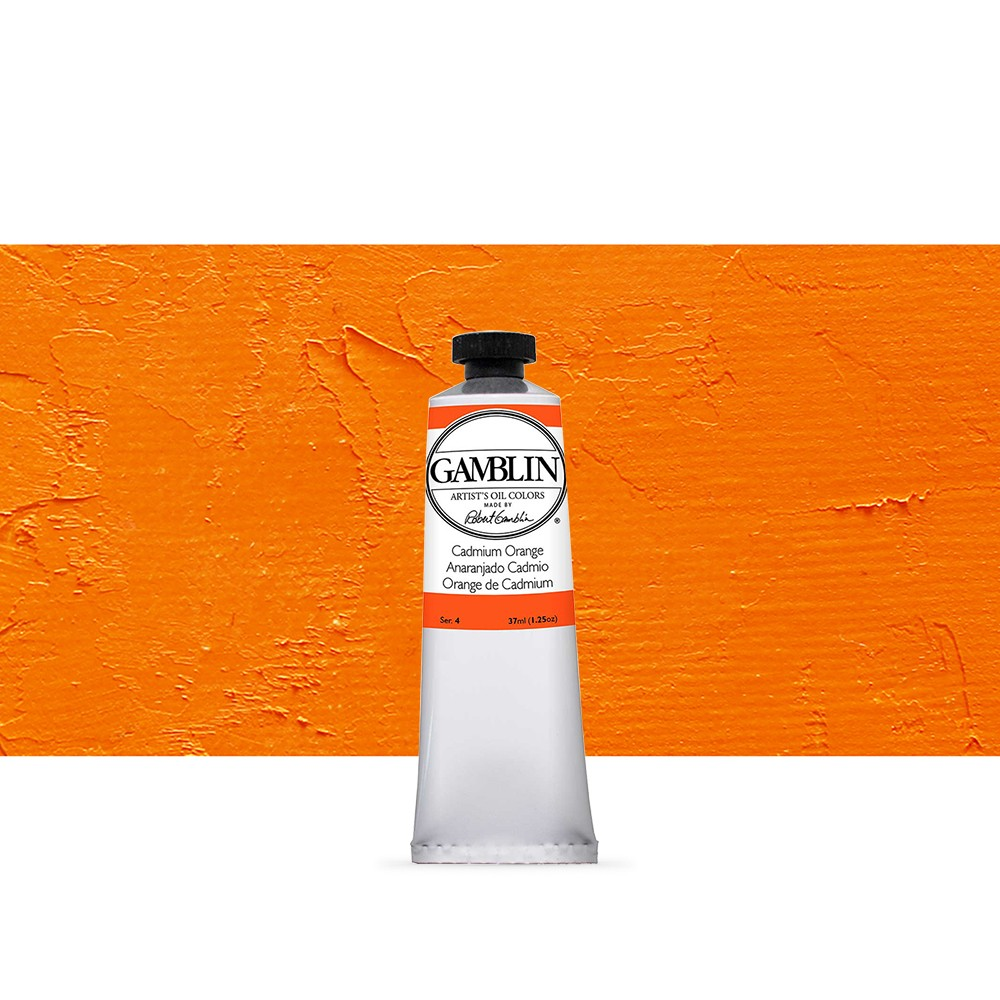 Gamblin : Artist Oil Paint : 37ml : Cadmium Orange