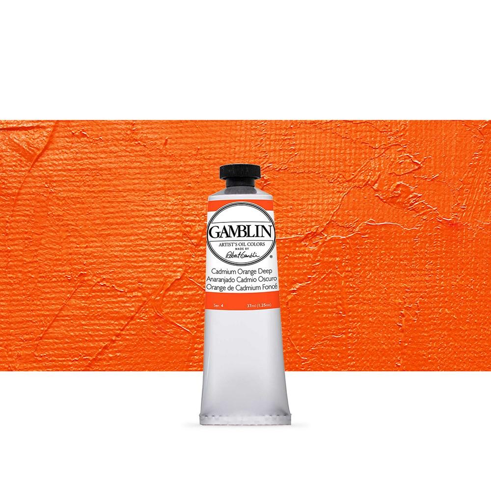 Gamblin : Artist Oil Paint : 37ml : Cadmium Orange Deep