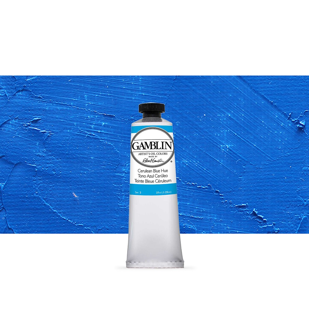 Gamblin : Artist Oil Paint 37ml : Cerulean Blue Hue