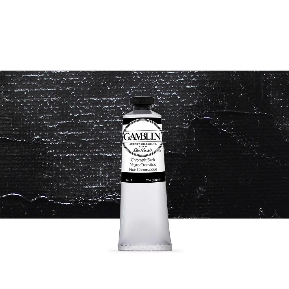 Gamblin : Artist Oil Paint 37ml : Chromatic Black