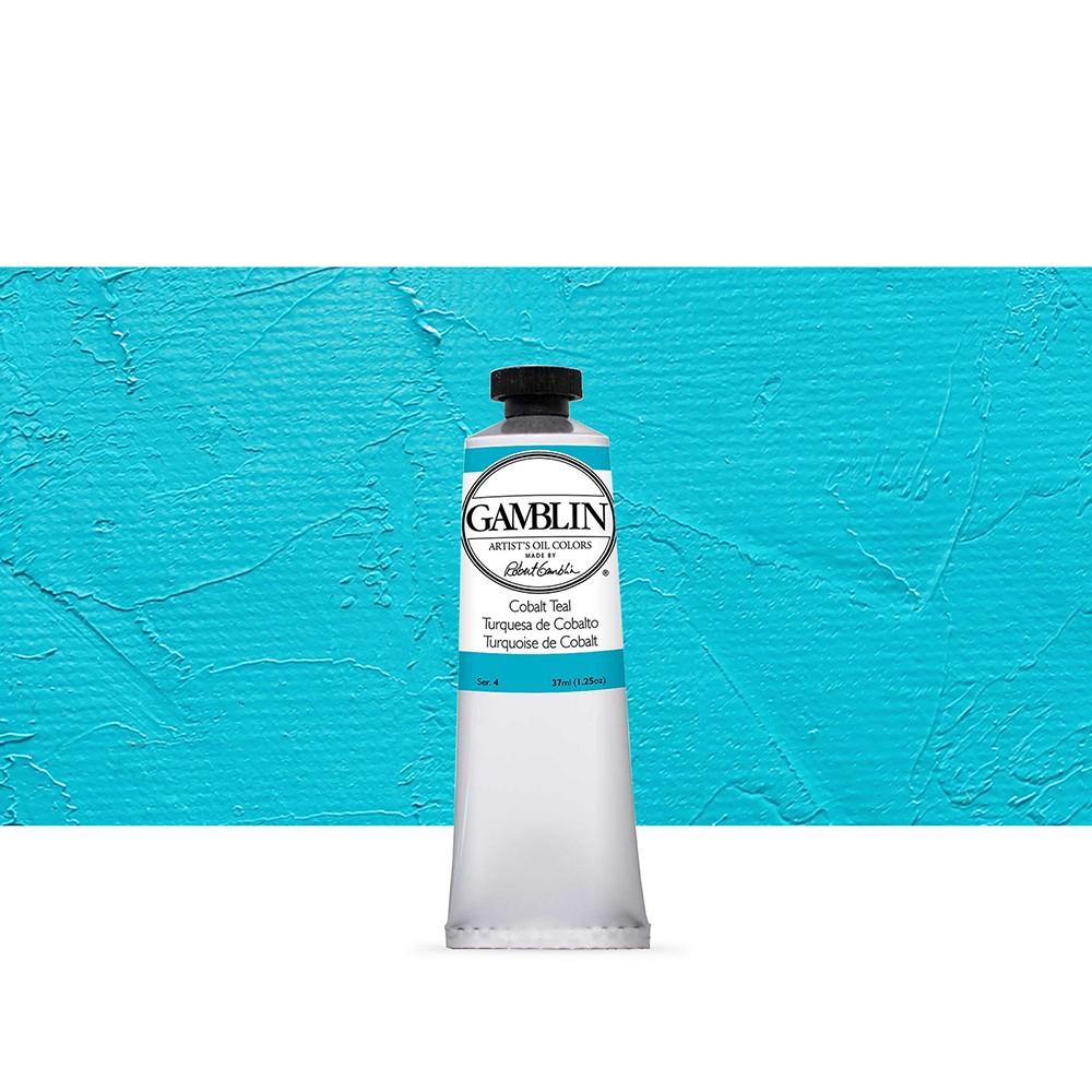 Gamblin : Artist Oil Paint : 37ml : Cobalt Teal