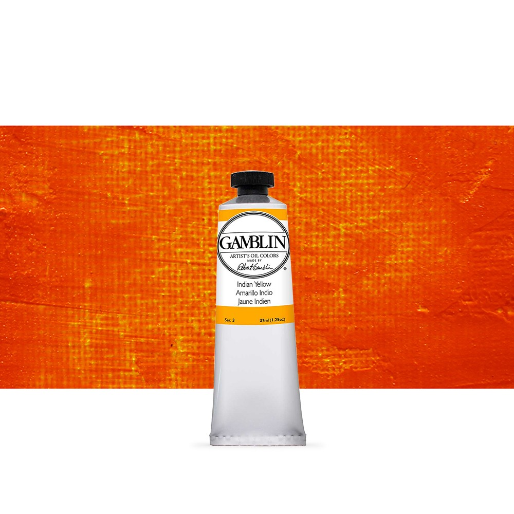 Gamblin : Artist Oil Paint 37ml : Indian Yellow