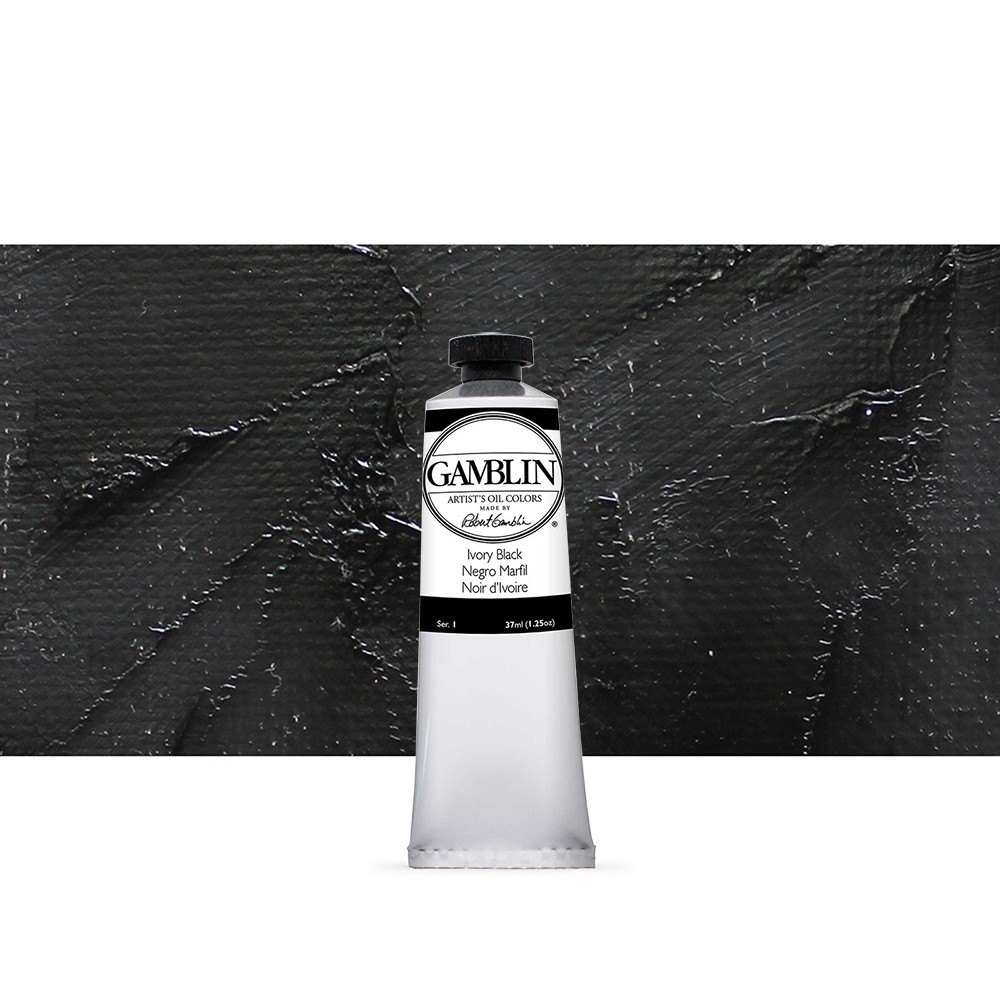 Gamblin : Artist Oil Paint : 37ml : Ivory Black