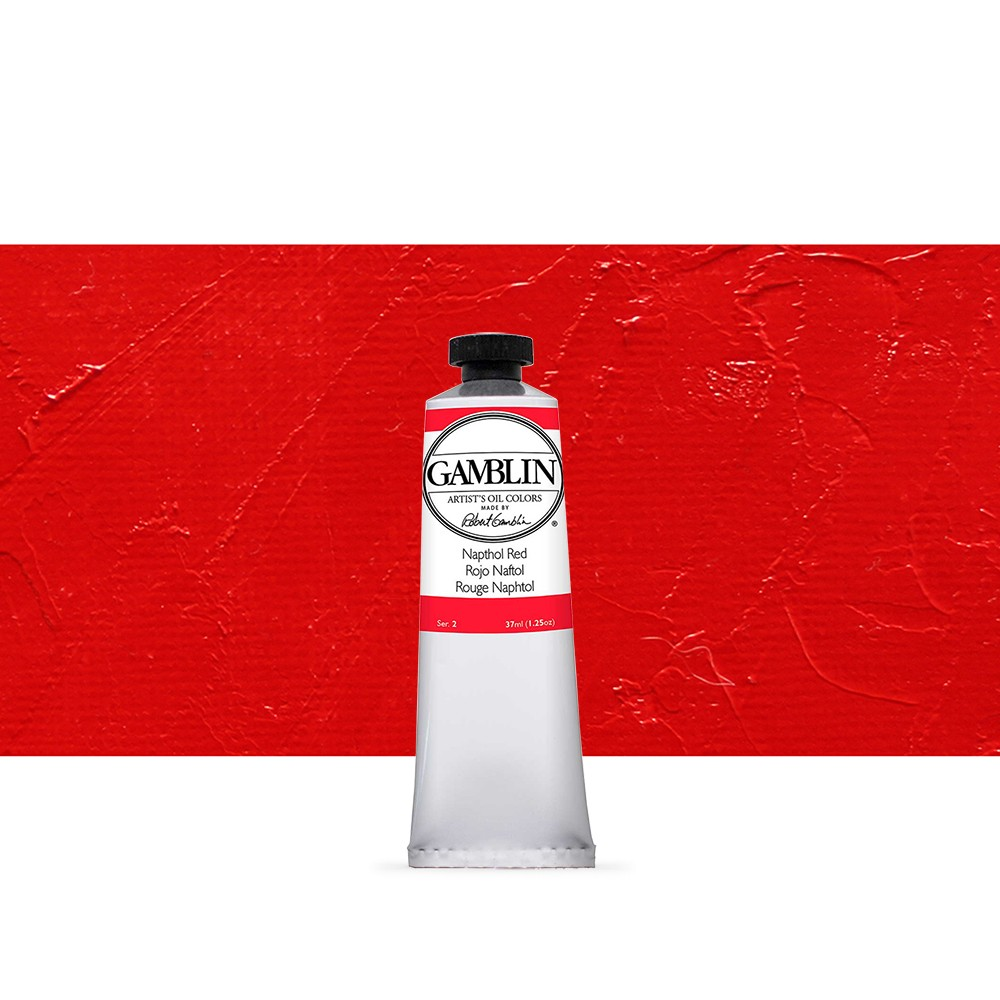 Gamblin : Artist Oil Paint : 37ml : Napthol Red