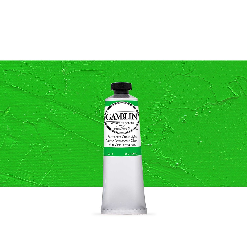 Gamblin : Artist Oil Paint 37ml : Permanent Green Light