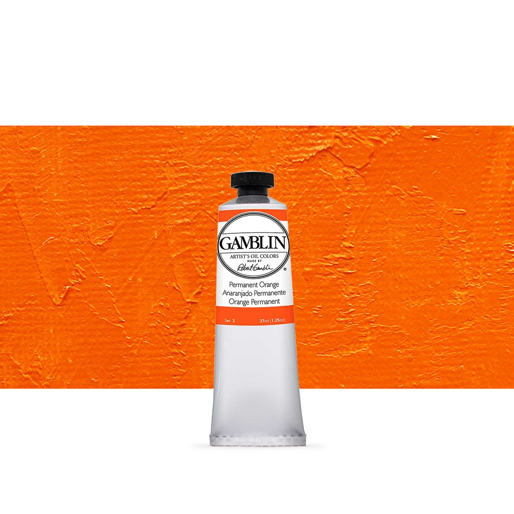 Gamblin : Artist Oil Paint 37ml : Permanant Orange (Was Mono Orange)