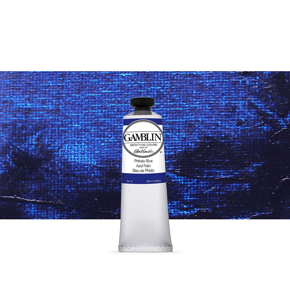 Gamblin : Artist Oil Paint : 37ml : Phthalo Blue