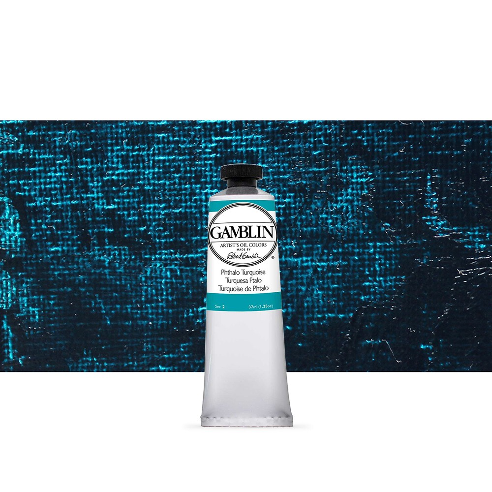 Gamblin : Artist Oil Paint : 37ml : Phthalo Turquoise