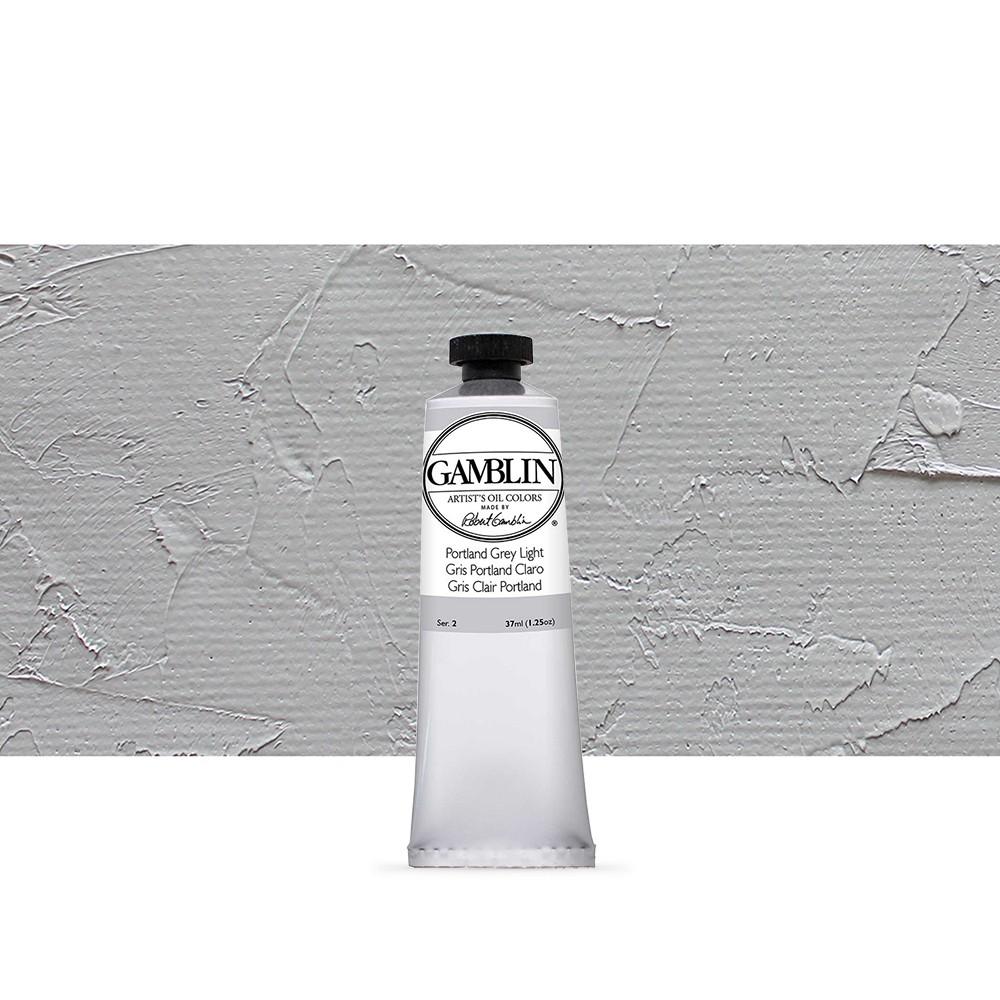 Gamblin : Artist Oil Paint : 37ml : Portland Grey Light