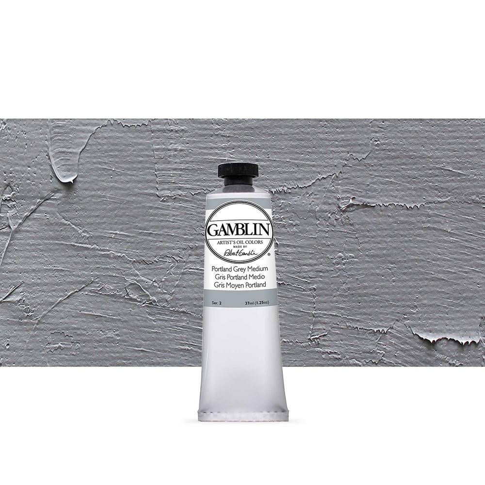 Gamblin : Artist Oil Paint : 37ml : Portland Grey Medium