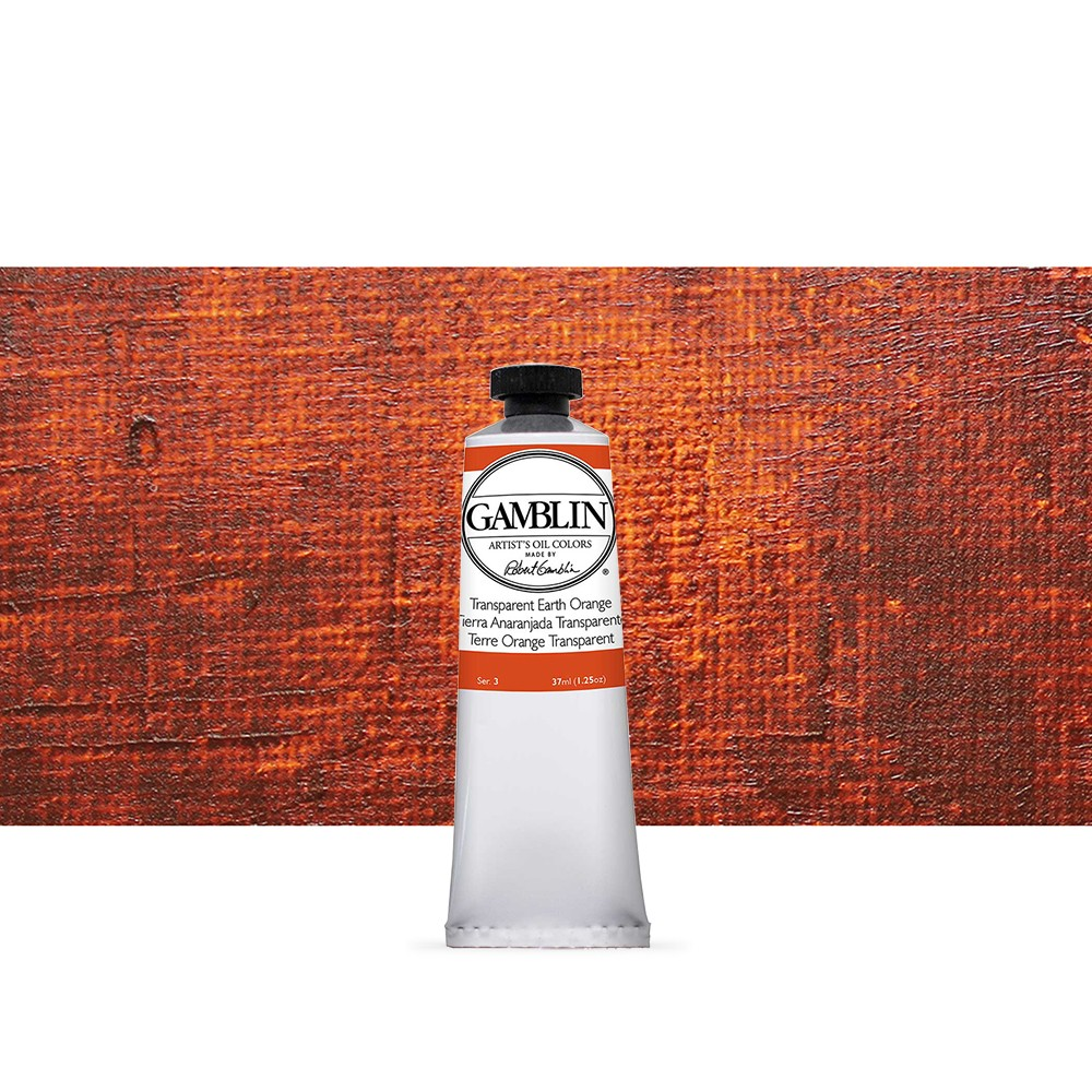 Gamblin : Artist Oil Paint : 37ml : Transparent Earth Orange