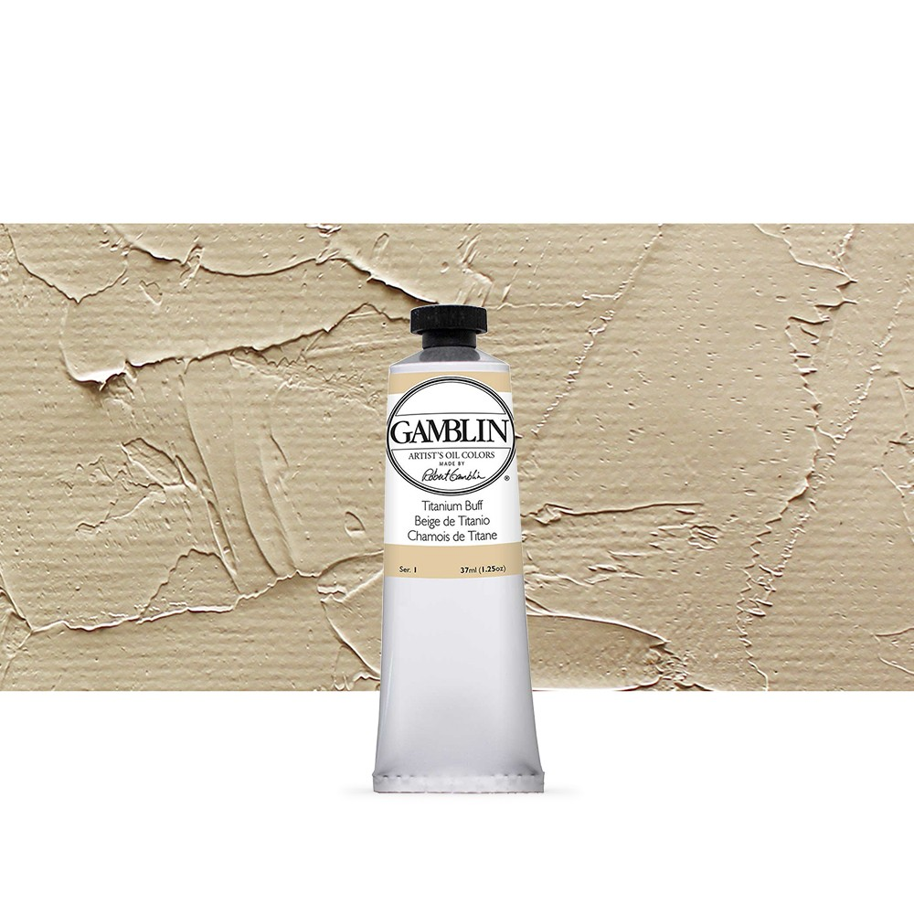 Gamblin : Artist Oil Paint : 37ml : Titanium Buff