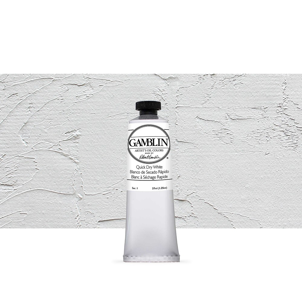 Gamblin : Artist Oil Paint 37ml : Quick Dry White