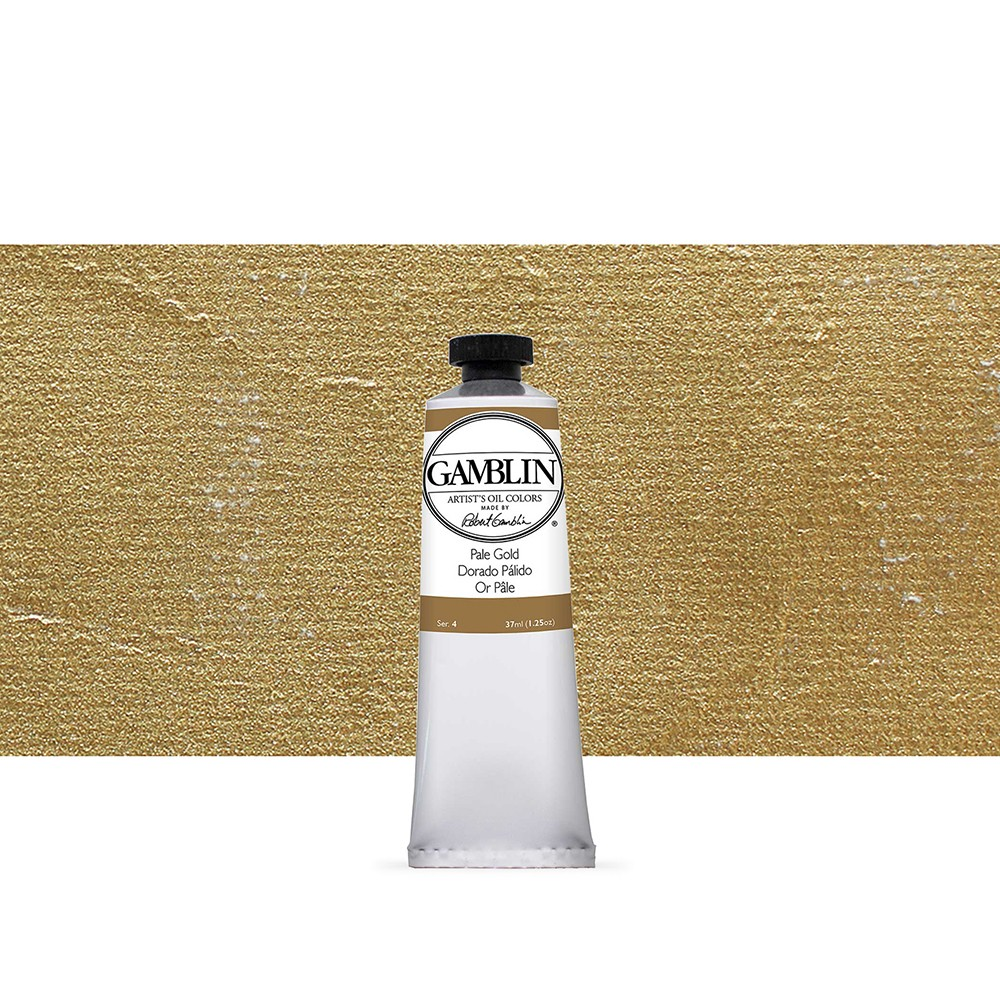 Gamblin : Artist Oil Paint 37ml : Pale Gold