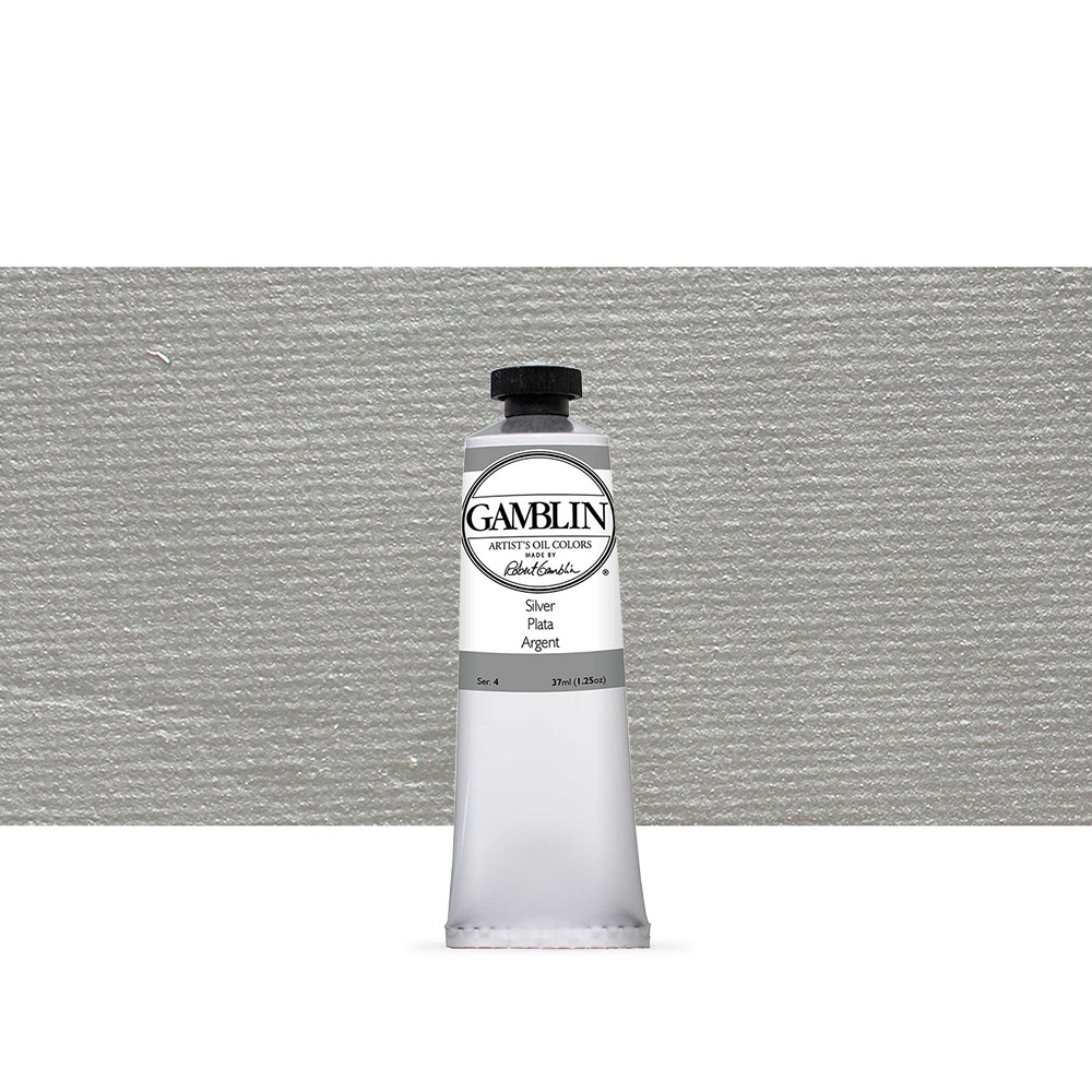 Gamblin : Artist Oil Paint 37ml : Silver