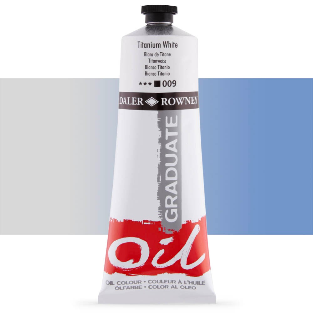 Daler Rowney : Graduate Oil Paint : 200ml : Titanium White