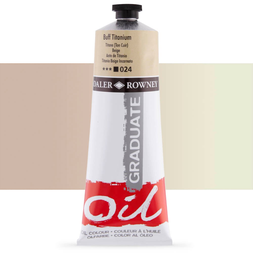 Daler Rowney : Graduate Oil Paint : 200ml : Buff Titanium