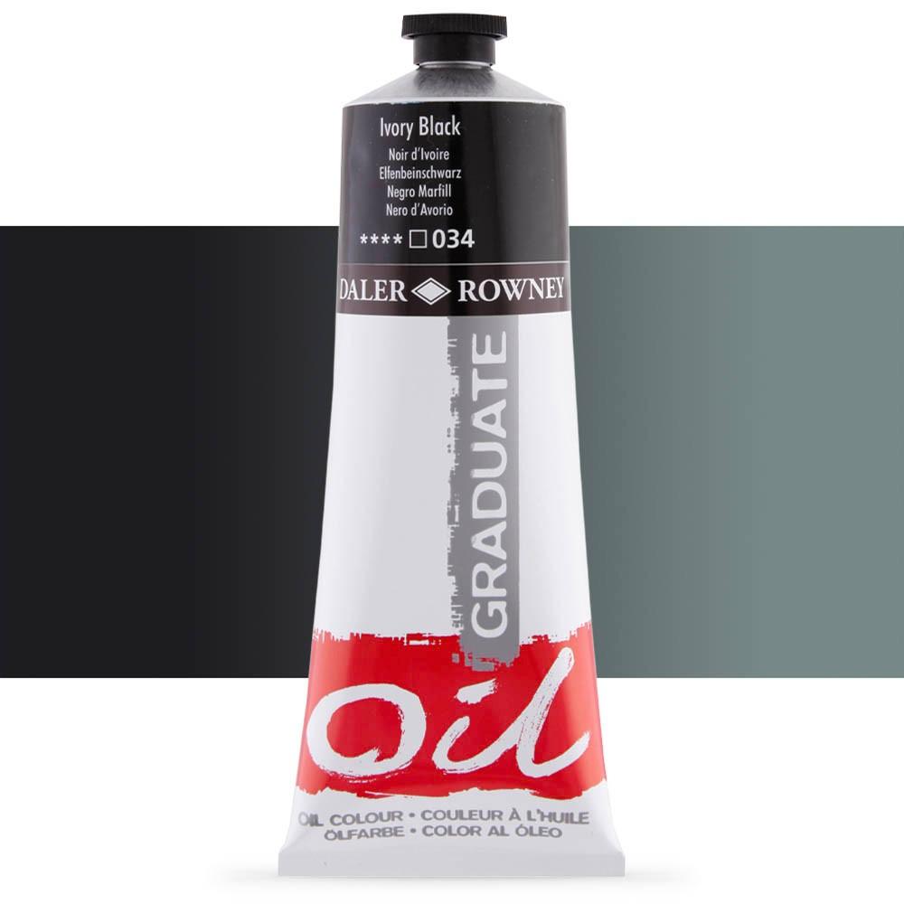 Daler Rowney : Graduate Oil Paint : 200ml : Ivory Black