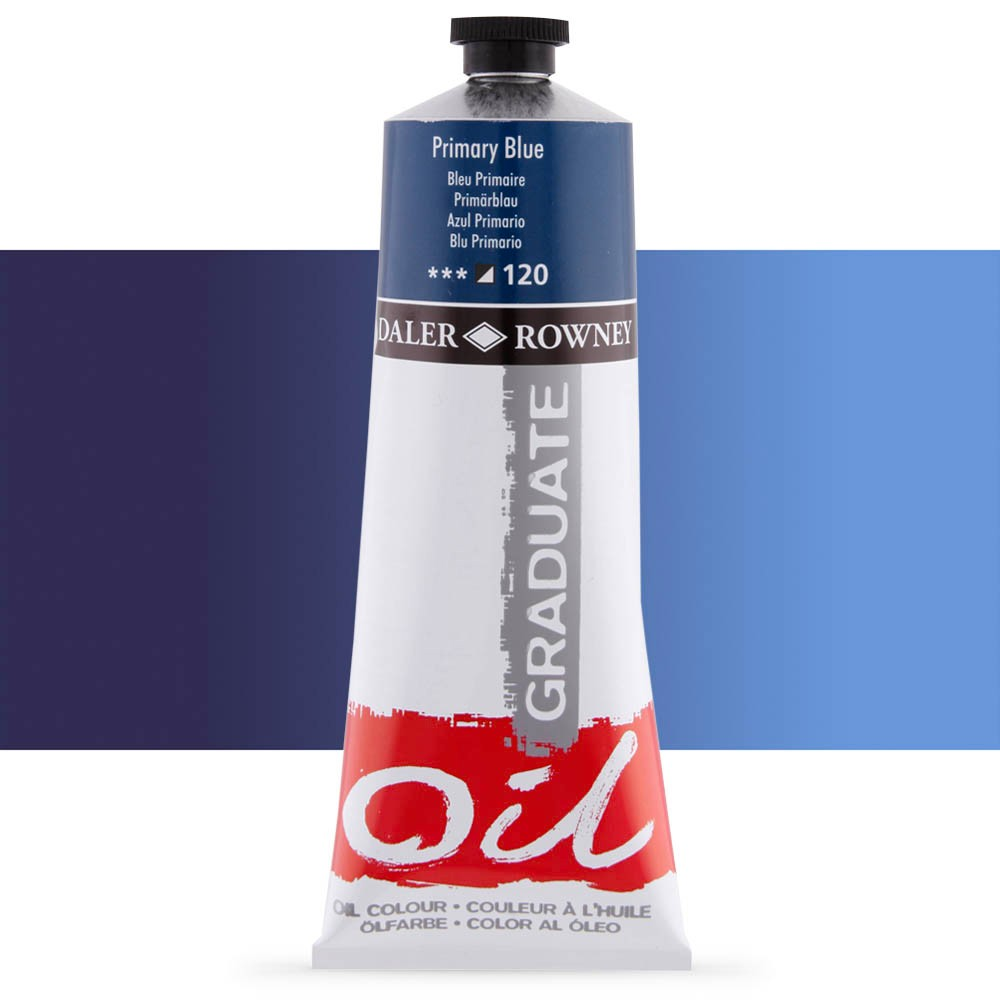 Daler Rowney : Graduate Oil Paint : 200ml : Primary Blue