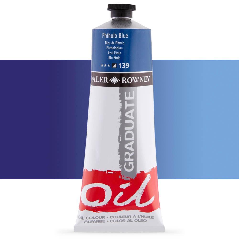 Daler Rowney : Graduate Oil Paint : 200ml : Phthalo Blue