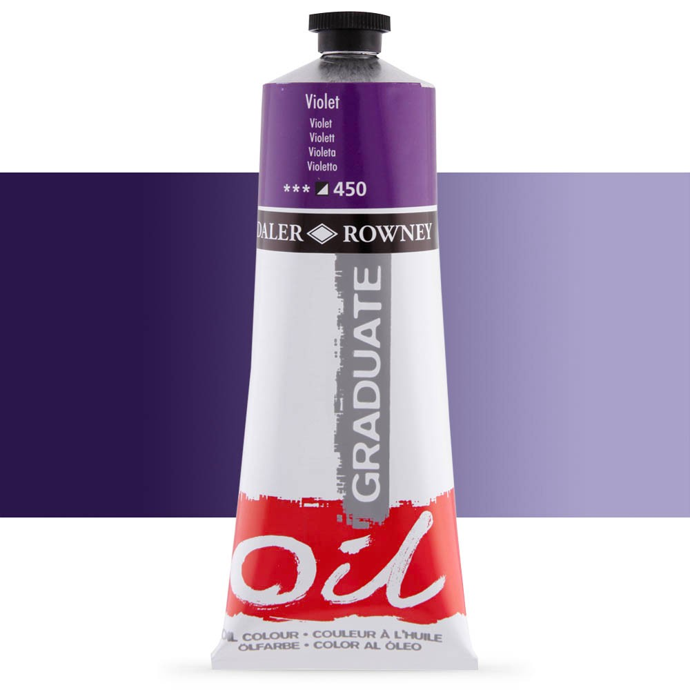 Daler Rowney : Graduate Oil Paint : 200ml : Violet