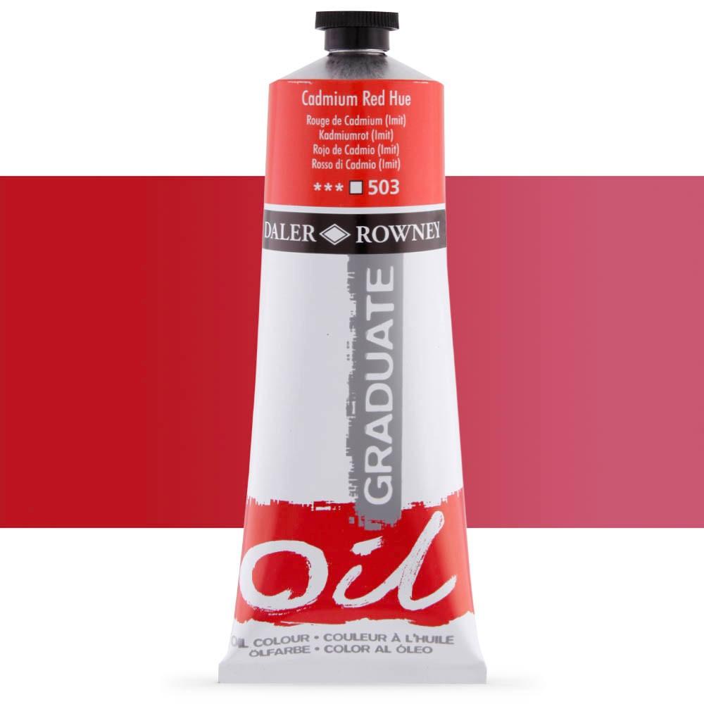 Daler Rowney : Graduate Oil Paint : 200ml : Cadmium Red Hue