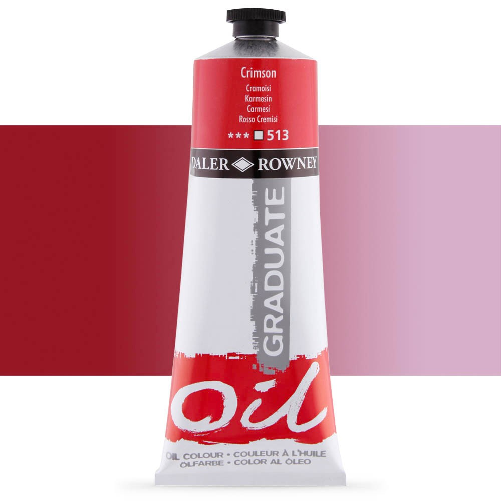 Daler Rowney : Graduate Oil Paint : 200ml : Crimson