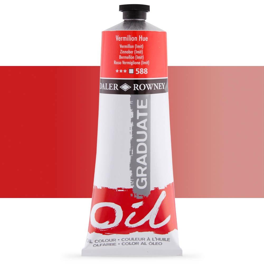 Daler Rowney : Graduate Oil Paint : 200ml : Vermilion Hue