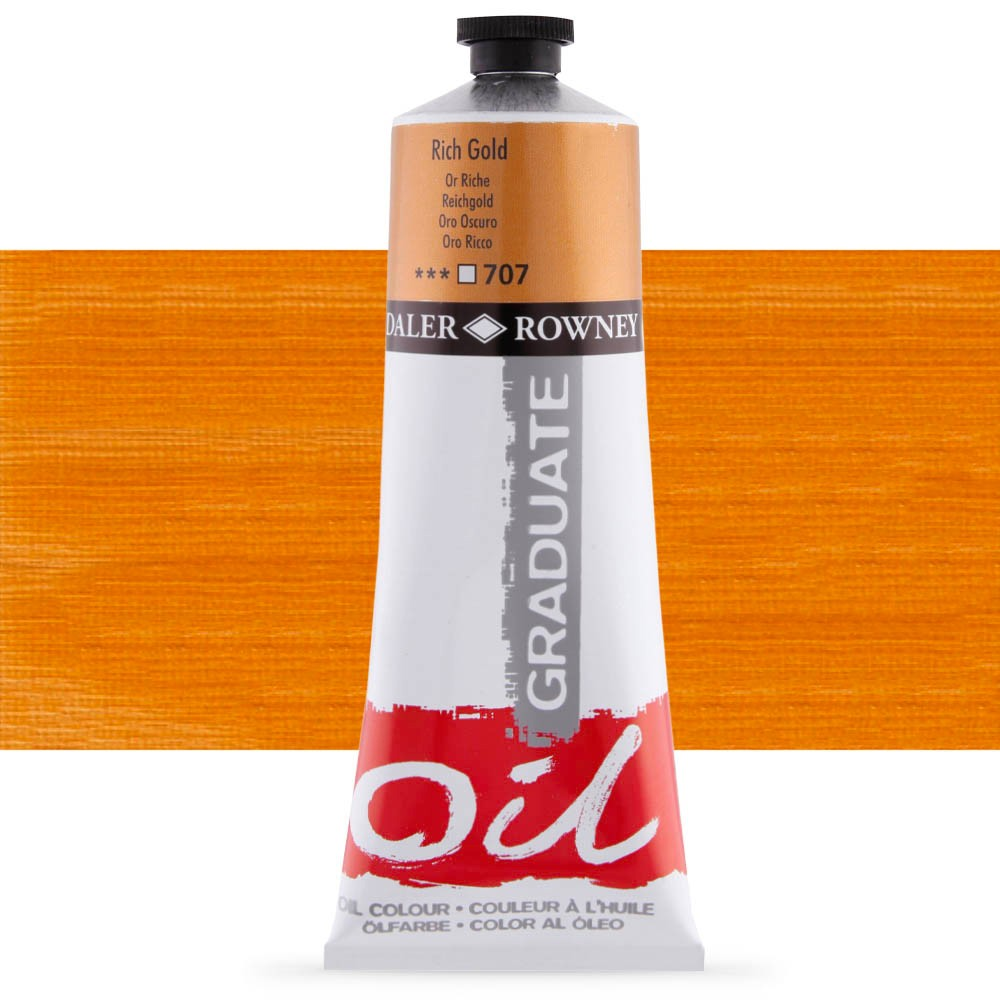 Daler Rowney : Graduate Oil Paint : 200ml : Rich Gold