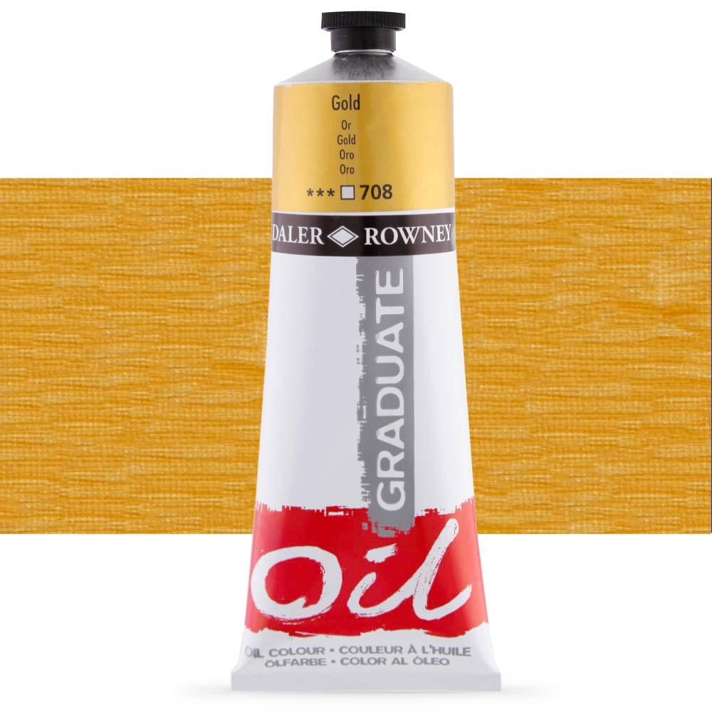 Daler Rowney : Graduate Oil Paint : 200ml : Gold