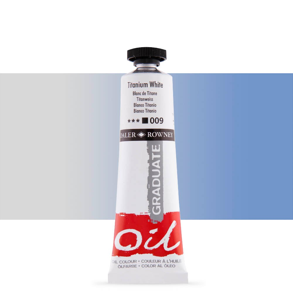 Daler Rowney : Graduate Oil Paint : 38ml : Titanium White