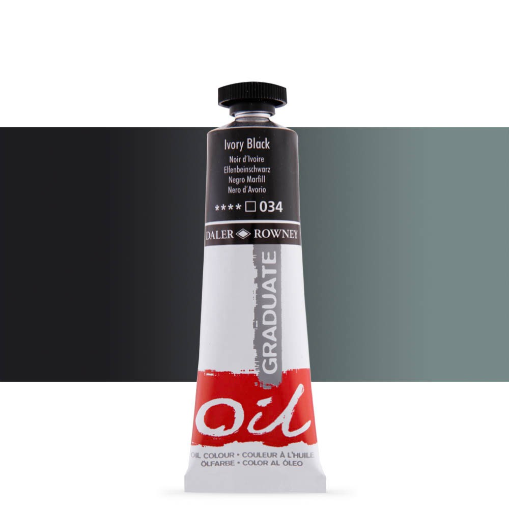 Daler Rowney : Graduate Oil Paint : 38ml : Ivory Black