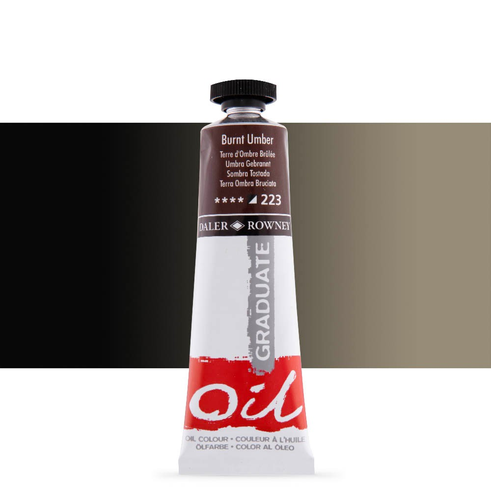 Daler Rowney : Graduate Oil Paint : 38ml : Burnt Umber