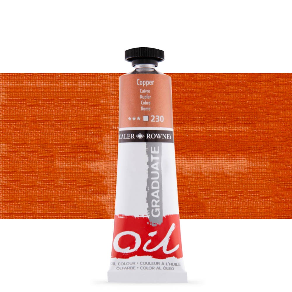 Daler Rowney : Graduate Oil Paint : 38ml : Copper