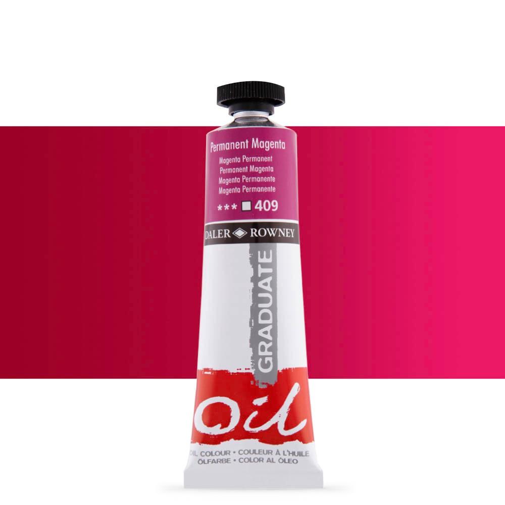 Daler Rowney : Graduate Oil Paint : 38ml : Permanent Magenta