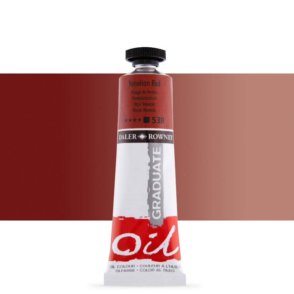 Daler Rowney : Graduate Oil Paint : 38ml : Venetian Red