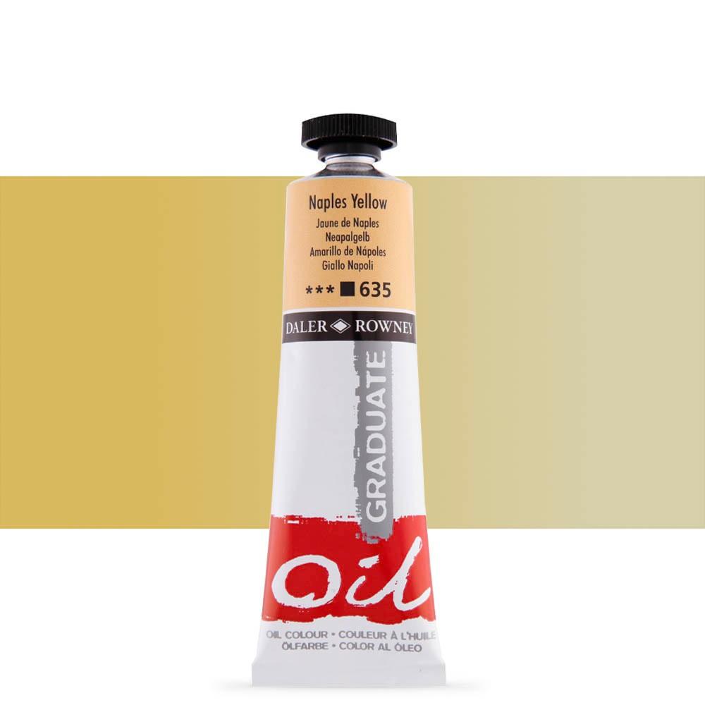 Daler Rowney : Graduate Oil Paint : 38ml : Naples Yellow