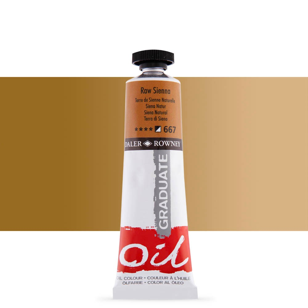 Daler Rowney : Graduate Oil Paint : 38ml : Raw Sienna