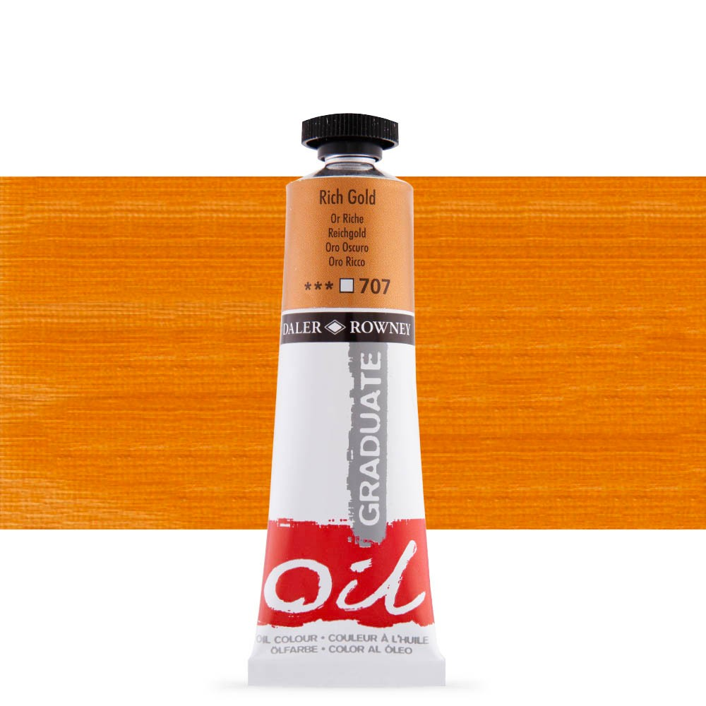 Daler Rowney : Graduate Oil Paint : 38ml : Rich Gold