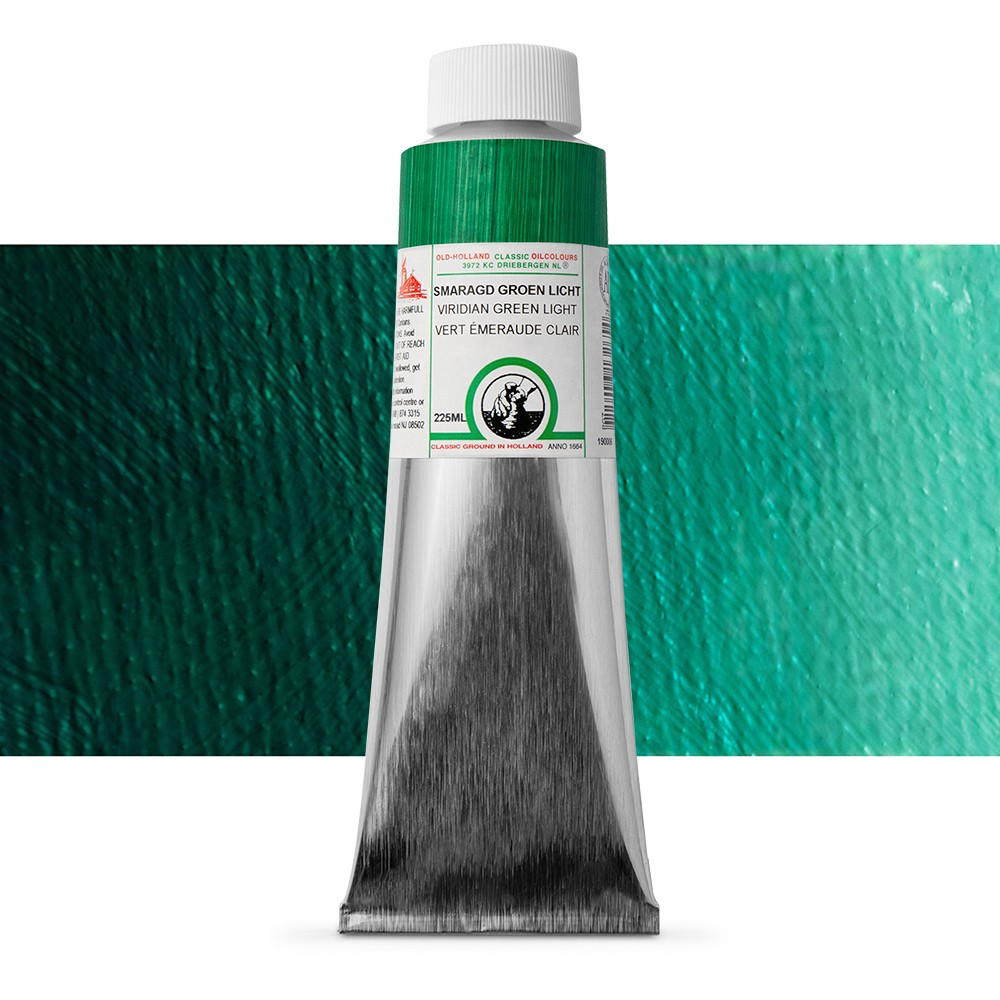 Old Holland : Classic Oil : 225ml Viridian Green Light
