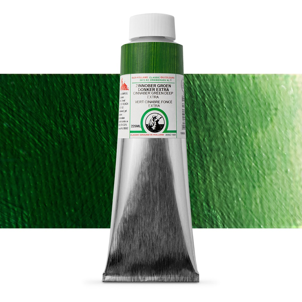 Old Holland : Classic Oil : 225ml Cinnabar Green Deep Ext